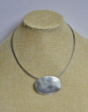 Premier Designs Jewelry PATINA Matte Silver Necklace