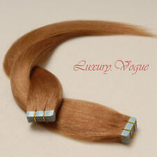 40pcs 100% Human Hair Tape-in Extensions Remy #14 (Light Golden Brown)(AUFP)