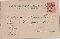 FRANCE TURKEY 1903 CONSTANTINOPLE 10C LEVANT ON ITALY POSTCARD COVER TO FRANCE