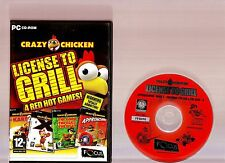 CRAZY CHICKEN LICENSE TO GRILL. SUPERB ARCADE ACTION COMPILATION FOR THE PC!!