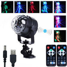 RGB LED MP3 Car USB Power Crystal Magic Ball Stage Light DJ Disco Party + Remote