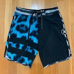 Hurley Block Party Phantom Stretch Board Shorts Black Size 29