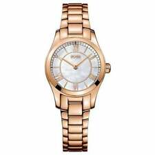 NEW HUGO BOSS HB 1502378 LADIES ROSE GOLD AMBASSADOR WATCH - 2 YEARS WARRANTY