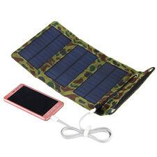 5V 5W Faltbar Solar Panel Akku Ladegerät kit USB Powerbank for Handy Tablette