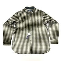 Ralph Lauren Men's Classic Fit Plaid Twill Winter Shirt In Black/White