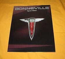 Pontiac Bonneville Special Edition 1997 USA Prospekt Brochure Depliant Catalog