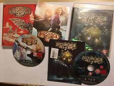 2 PLAYSTATION 3 PS3 GAMES BIOSHOCK 2 + INFINITE +BOXES INSTRUCTIONS COMPLETE PAL