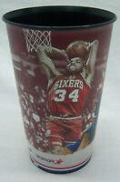 PHILADELPHIA 76ERS SIXERS CHARLES BARKLEY MOSES MALONE NBA STADIUM CUP