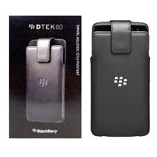 BlackBerry New OEM Leather Swivel Holster Case for BlackBerry DTEK60 - Black