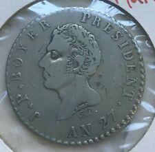 1830 (An 27) Haiti 100 Centimes - Nice Silver