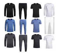 Mens Thermal Long Johns Boys Top Bottom Underwear Trouser T Shirt Full Set Warm