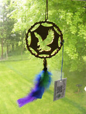 Eagle Dreamcatcher Ornament Handmade Wood Support Wildlife Rehab