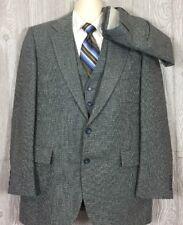 Fashion Forum Mens Grey 3pc Suit 40-42 Reg 34x30 (t4)