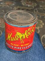 Vintage J.A. Sexauer Mfg. Co. Mule Kick Waste Pipe Cleaner Can