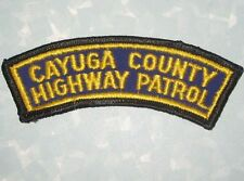 Cayuga County Highway Patrol Patch - New York - Vintage (cheesecloth back)