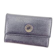 Bvlgari Key holder Key case Black Silver Woman unisex Authentic Used S823