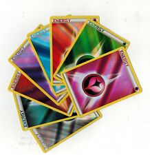Set of 8 Sheen Holos Fairy, Fire, Water, Psychic, Fighting, Darkness Energy