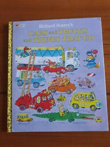 Richard Scarry's - Cars and Trucks and Things That Go - large book HARDCOVER!