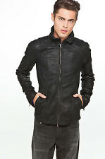 DIESEL BLACK GOLD LUKYLU BLACK LEATHER JACKET SIZE L 100% AUTHENTIC