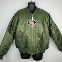 Rothco Military Air Force MA-1 Reversible Bomber Flight Jacket Coat New Large