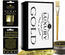 Gold Leaf new fast drying Adhesive and Brush. Gilding, 10 sheet gold leaf