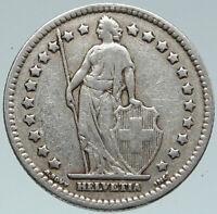 1928 SWITZERLAND - SILVER 1 Franc Coin - HELVETIA Symbolizes SWISS Nation i86087