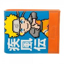 Brand New Japanese Anime Naruto Blue And Orange Ninja Full Size  Bifold Wallet