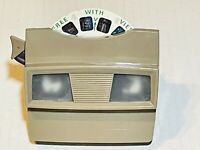 Vintage 1951 Sawyers Viewmaster Viewer View Master Tan Brown + Orig Preview Disc