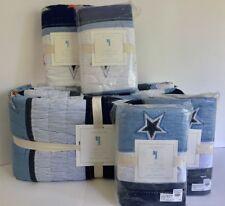 5pc STAR APPLIQUE QUILT Full/Queen STANDARD & EURO SHAMS Pottery Barn Kids NEW