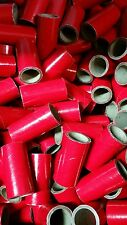 "25 37mm Fireworks KRAFT Pyro Cardboard Tubes 1/4 Stick Red 1"" x 2-1/2"" x 1/8"""