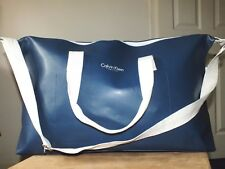 Calvin Klein Fragrances blue holdall duffle gym bag/travel