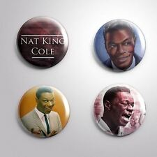 4 NAT KING COLE -  Pinbacks Badge Button 25mm 1''..