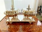 ENGLISH SILVER DOUBLE ENTREE COVERED SERVER SERVING TRAY