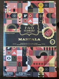 FAO Schwarz Wooden Mancala Board Game - New