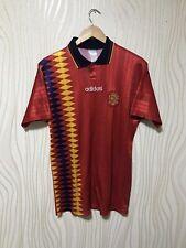 SPAIN 1994 1996 HOME FOOTBALL SOCCER SHIRT JERSEY PLAYER ISSUE ADIDAS RARE VINTA