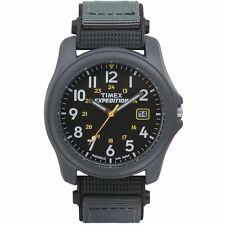 Timex T42571 Water Resistant Expedition Camper Gents Grey Faststrap Watch New