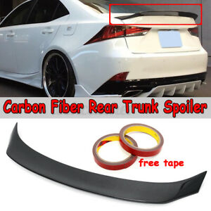 AR Style Real Carbon Fiber Trunk Spoiler For LEXUS IS200t IS250 IS350 2014-2020