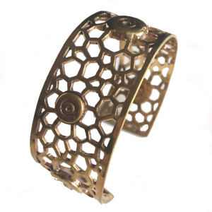 Honeycomb Brass Bangle
