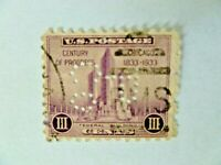 Lot of One $.03 #731 The Pullman Company Perfin - See Description & Images