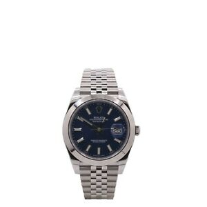 Men's Rolex Datejust 41, Stainless Steel, Blue Dial, 126300