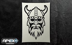 Viking Stencil - Airbrush, Sponging Snow Xmas ST-CR-VIKING-DUDE1