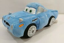 "Disney Store Pixar CARS Movie Plush Stuffed Toy Pillow 13"" Blue Finn McMissile"