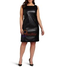 Spring Designer Lamb New Leather Women Dress Cocktail Stylish Party Wear  D-178