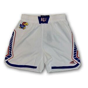Kansas Jayhawks NCAA Adidas On The Court Men's White Shorts