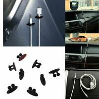 8Pc Black Office Home Car Charger Line Headphone USB Cable Holder Clip Accessory