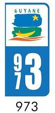 2 Logo De Plaque Immatriculation Département Guyane 973