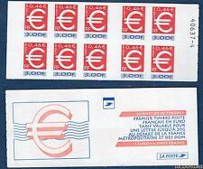 "Carnet - 3215c C1 - Timbre ""Euro"" - Numéro 40637 Dos Clair - 3 fr 0,45 euro N° 3"