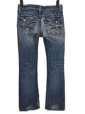 "Big Star Casey K Low Rise Jeans Sz 26 R Medium Wash Denim Distressed 30"" Inseam"