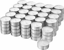 120 Teelichter 6h Brenndauer Teelicht Kerzen weiss in Alu Hülse Teelichte gastro
