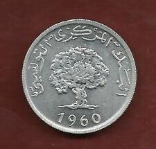 TUNISIE 5  MILLIMS 1960 UNCIRCULATED